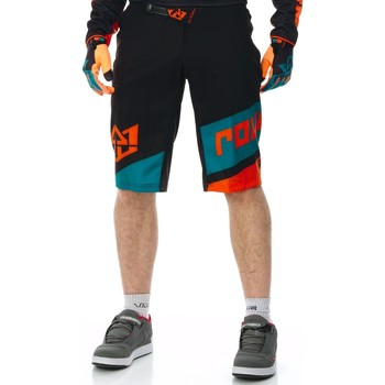Clothing Men Shorts / Bermudas Royal Racing Black-Teal-Orange 2017 Victory MTB Shorts Black