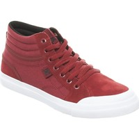 Shoes Boy Hi top trainers DC Shoes Evan Smith Deep Red Collaboration Kids Hi Top Shoe Red