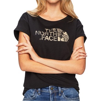 Clothing Women short-sleeved t-shirts The North Face TNF Black Himalayan Womens T-Shirt Black