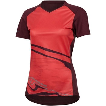Clothing Women Short-sleeved t-shirts Pearl Izumi Launch Vista Womens Short Sleeved MTB Jersey Orange