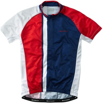 Clothing Men Short-sleeved t-shirts Madison 2016 Tour Short Sleeved Cycling Jersey Red