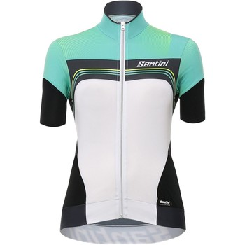 Clothing Women Short-sleeved t-shirts Santini 2017 Queen Of The Mountain Green