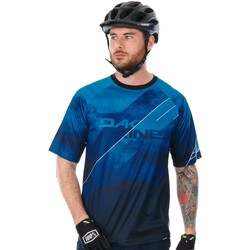 Clothing Men Short-sleeved t-shirts Dakine 18W Thrillium Short Sleeved MTB Jersey Blue