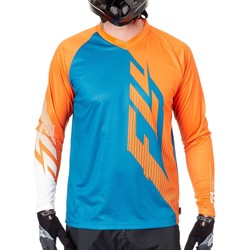 Clothing Men Long sleeved tee-shirts Fly Racing 2017 Radium Long Sleeved MTB Jersey Orange