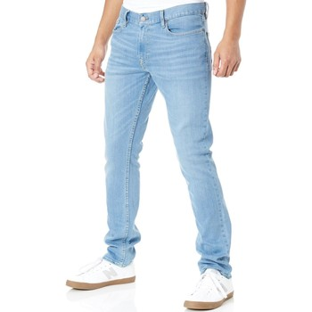 Clothing Men Slim jeans DC Shoes Light Indigo Bleach Worker Straight Stretch Jeans Blue