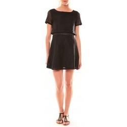 Clothing Women Short Dresses La Vitrine De La Mode Robe LC-0461 By La Vitrine Noire Black