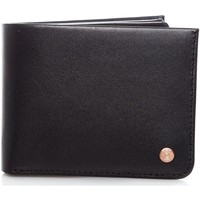 Bags Men Wallets Levi's Black Rivet Inlay Coin Leather Bifold Wallet - Default Black