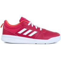Shoes Children Low top trainers adidas Originals Tensaur K White, Red