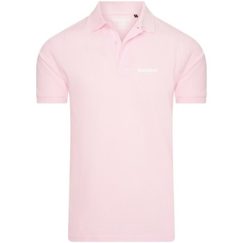 Clothing Men short-sleeved polo shirts Ballin Est. 2013 Basic Polo Pink