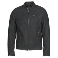 Clothing Men Leather jackets / Imitation leather Jack & Jones JJEROCKY Black