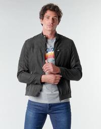 Clothing Men Leather jackets / Imitation leather Jack & Jones JJEROCKY Black