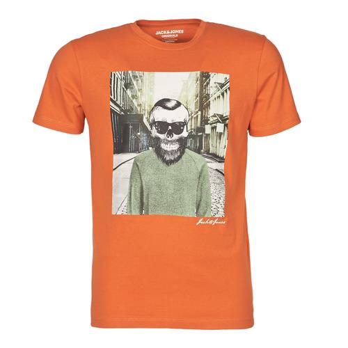 Clothing Men Short-sleeved t-shirts Jack & Jones JORSKULLING Orange