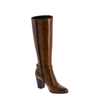 Shoes Women High boots André RUTH Cognac