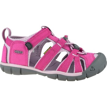 Shoes Children Outdoor sandals Keen Seacamp II Cnx JR Grey,Pink