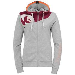 Clothing Women Sweaters Kempa Veste femme  Core 2.0 gris foncé chiné/rouge