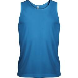 Clothing Men Tops / Sleeveless T-shirts Proact Débardeur  Sport bleu eau