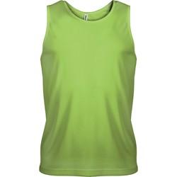 Clothing Men Tops / Sleeveless T-shirts Proact Débardeur  Sport vert fluo