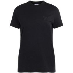 Clothing Women Short-sleeved t-shirts Y-3 Y3 black t-shirt made of cotton with front logo Black