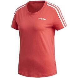 Clothing Women Short-sleeved t-shirts adidas Originals Essentials 3S Slim Tee Red