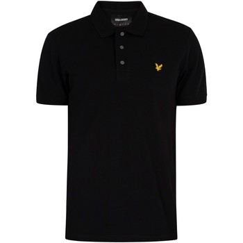 Clothing Men Short-sleeved polo shirts Lyle & Scott Logo Polo Shirt black