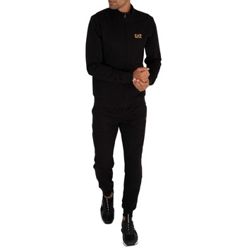 Clothing Men Tracksuits Emporio Armani EA7 Chest Logo Tracksuit black