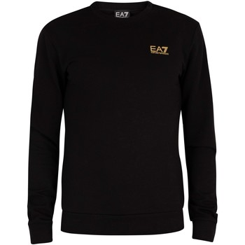 Clothing Men Sweaters Emporio Armani EA7 Chest Logo Sweatshirt black