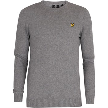 Clothing Men Jumpers Lyle & Scott Cotton Merino Crew Jumper grey