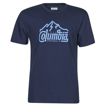 Clothing Men Short-sleeved t-shirts Columbia M PATH LAKE GRAPHIC TEE Blue