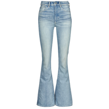 Clothing Women Bootcut jeans G-Star Raw 3301 HIGH FLARE WMN Blue
