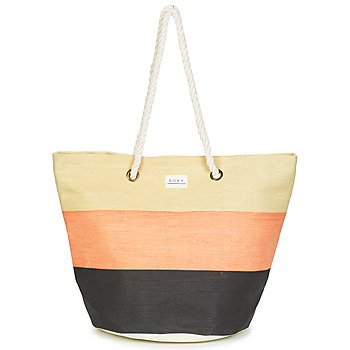 Bags Women Shopping Bags / Baskets Roxy SUNSEEKER Marine / Pink / Beige