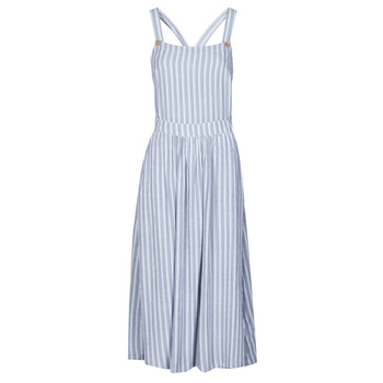 Clothing Women Long Dresses Roxy SUMMER TRANSPARENCY Blue