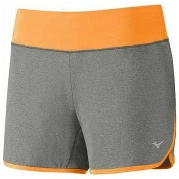 Clothing Women Shorts / Bermudas Mizuno Active Short Grey, Orange
