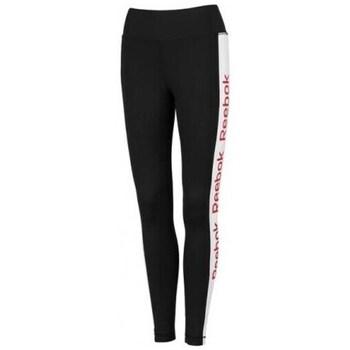 Clothing Women Tracksuit bottoms Reebok Sport Linear Logo Poly Tight Black