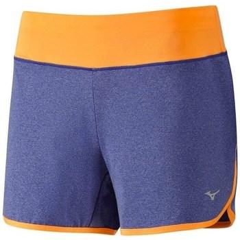 Clothing Women Shorts / Bermudas Mizuno Active Short Blue, Orange