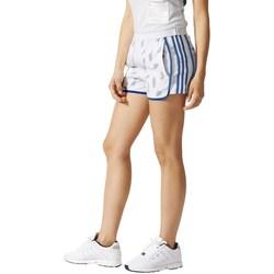 Clothing Women Shorts / Bermudas adidas Originals HI Waist Shorts White,Blue