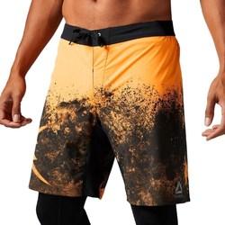 Clothing Men Shorts / Bermudas Reebok Sport Splatter Short Black,Orange