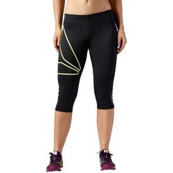 Clothing Women Leggings Reebok Sport 34 OS Running Capri Black