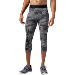 Clothing Men Cropped trousers Reebok Sport OS Elite QC 34 Black, Grey