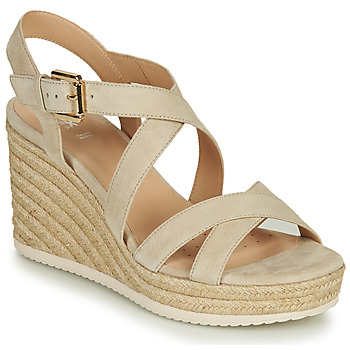 Shoes Women Sandals Geox D PONZA Beige