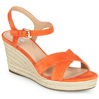Shoes Women Sandals Geox D SOLEIL Orange
