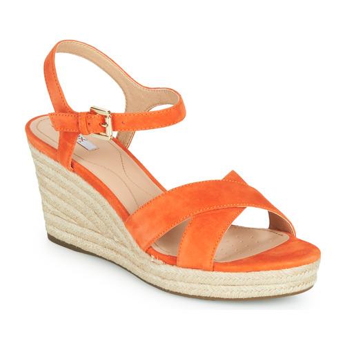 Shoes Women Sandals Geox D SOLEIL Orange