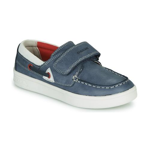 Shoes Children Loafers Geox DJROCK GARÇON Blue / White