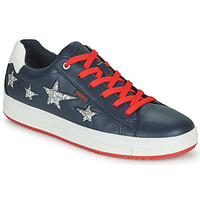 Shoes Girl Low top trainers Geox REBECCA GIRL Blue / Red / Silver