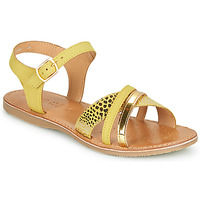 Shoes Girl Sandals Geox J SANDAL EOLIE GIRL Yellow / Gold