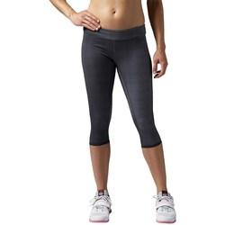 Clothing Women Leggings Reebok Sport Rcf Reversbl Chase Capri Graphite