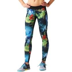 Clothing Women Leggings Reebok Sport Rcf Rev Chase Tight White, Green, Blue
