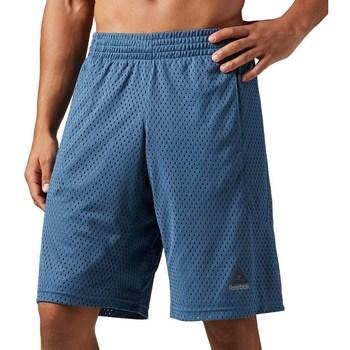Clothing Men Shorts / Bermudas Reebok Sport Les Mills Mesh Blue