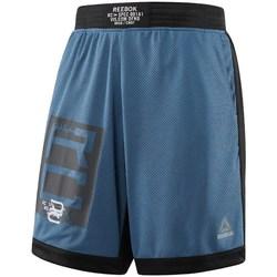 Clothing Men Shorts / Bermudas Reebok Sport Combat Boxing Blue