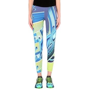 Clothing Women Leggings adidas Originals Leggings Blue,Yellow