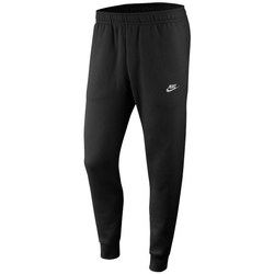 Clothing Men Tracksuit bottoms Nike Club Jogger Jersey Black